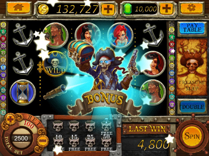 Pirate Slots Free App Game By TOPGAME