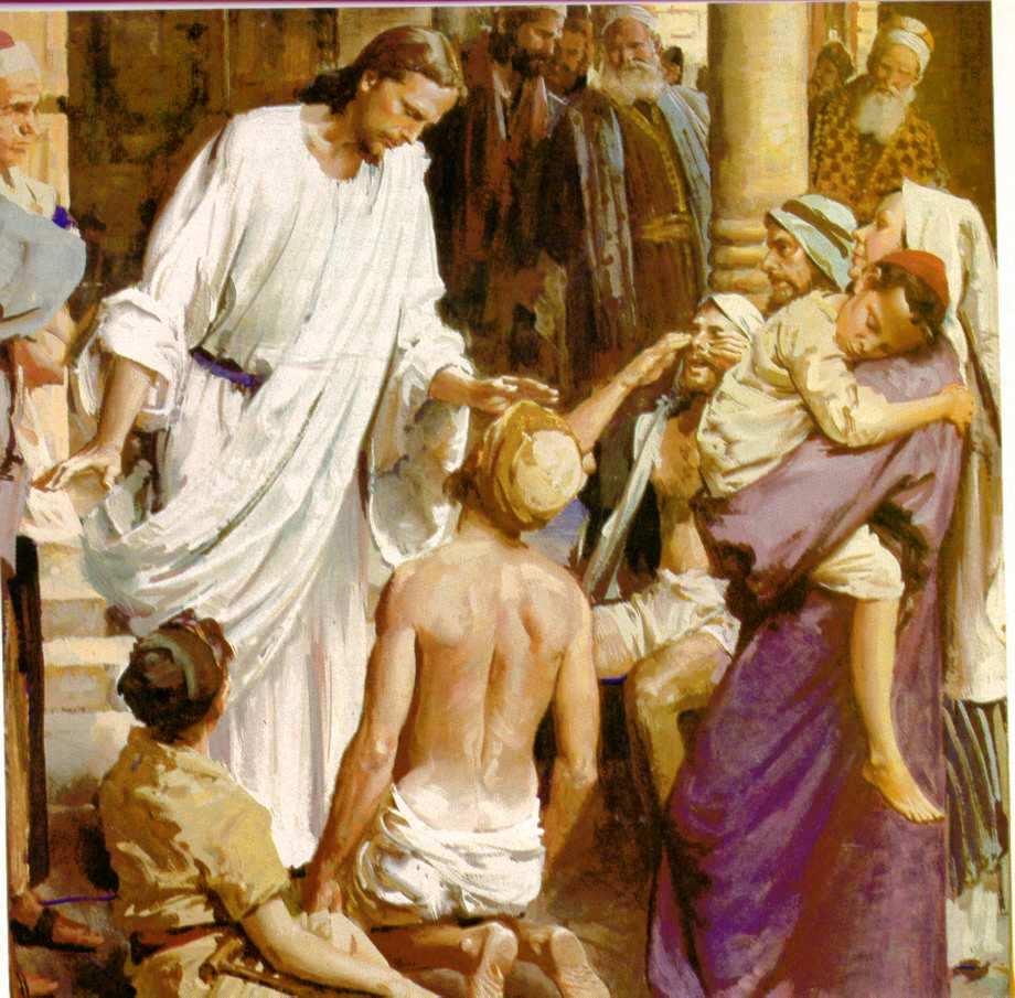 Jesús cura al ciego de nacimiento