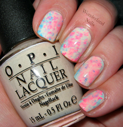 Wonderland Nails Fan Brush Tie Dye Nail Art