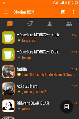 BBM Orange Dark Inovation V4 Base 2.9.0.45 APK