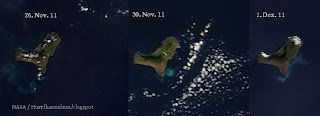 Vulkan EL HIERRO aktuell: Verwirrung um NASA-Satellitenfotos, Satellitenbild Satellitenbilder, El Hierro, aktuell, Dezember, 2011, Erdbeben Seebeben, Vulkanausbruch,