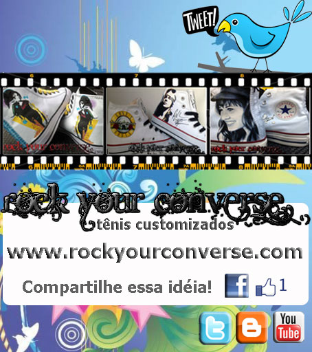 Converse All Star Customizado - Rock Your Converse!