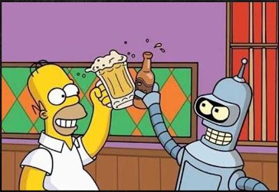 Los Simpson y Futurama Juntos en un Capitulo