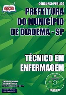 Apostila Concurso Prefeitura de Diadema 2015 para Técnico em Enfermagem.