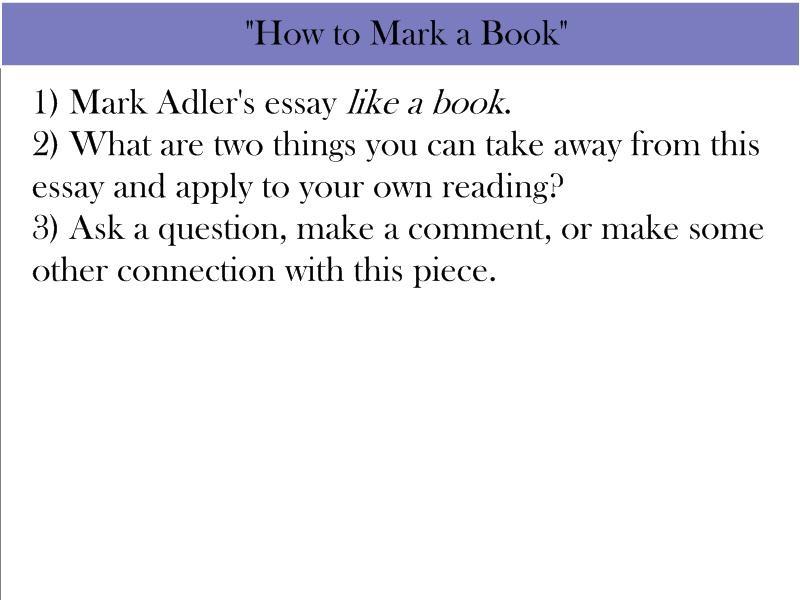 how to mark a book