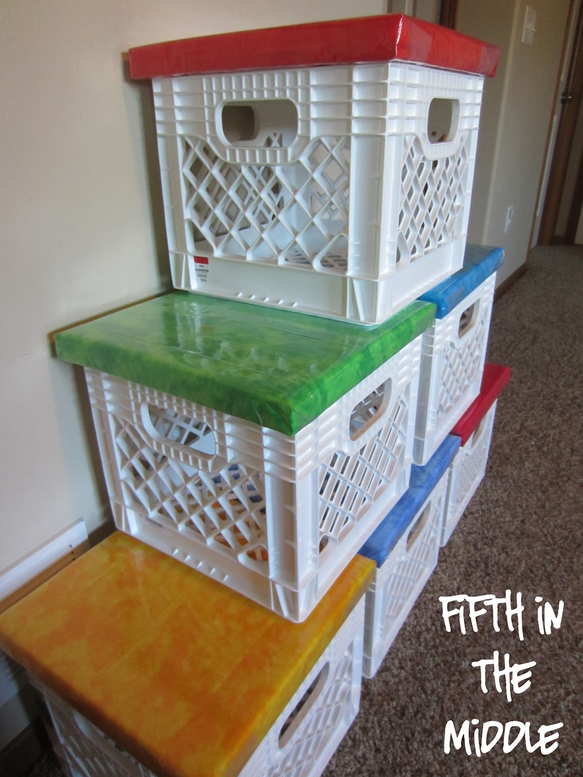 Finally milk crate seats fifth in the middle for What to do with milk crates