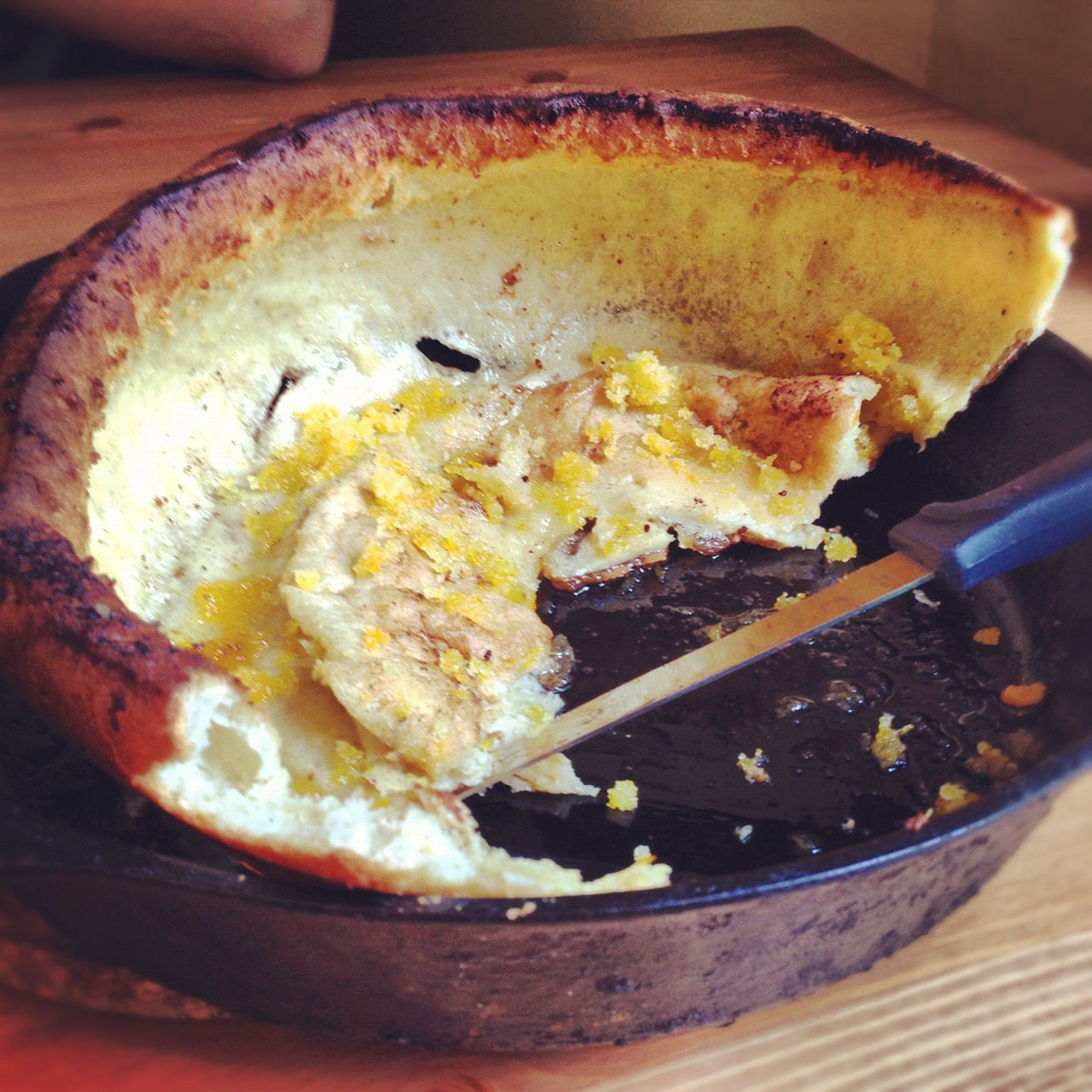 Dutch Baby Pancakes with Orange Sugar - hummingbird high || a desserts ...