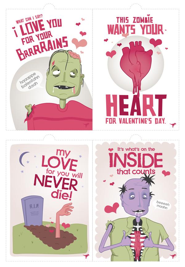 Zombie Valentines!