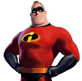 Mr. Incredible in The Incredibles 2004 animatedfilmreviews.filminspector.com