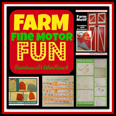 photo of: Farm Fun: Fine Motor + Motif in the Preschool Classroom via RainbowsWithinReach