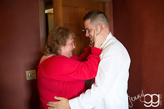 Mary with her son Casey- Patricia Stimac, Seattle Wedding Officiant