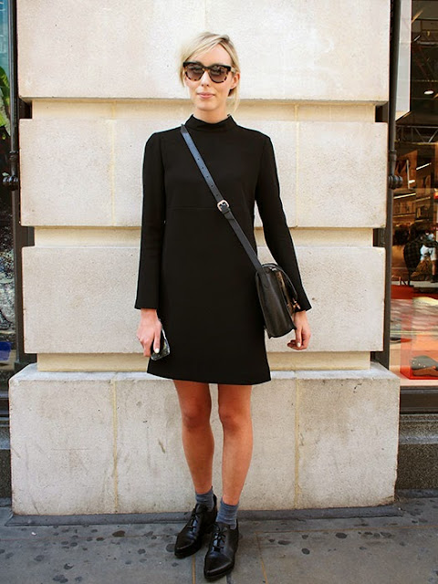 STREET STYLE INSPIRATION LBD AND BROGUES