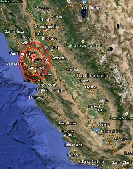 Magnitude 2.7 Earthquake of Union City, California 2014-09-06