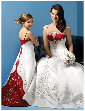 two color wedding dresses
