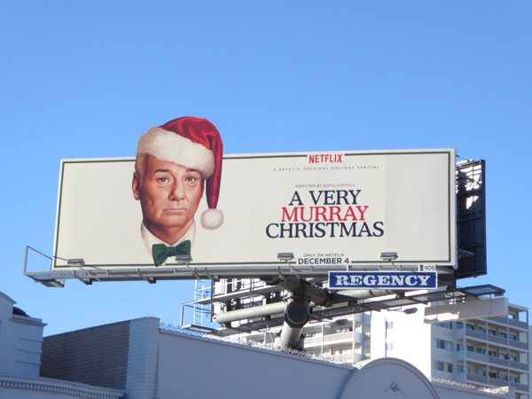 A Very Murray Christmas Netflix special billboard