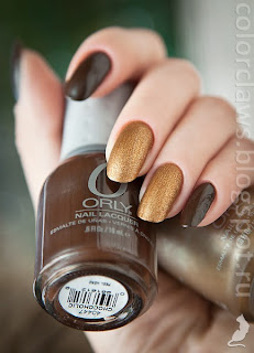 Orly Chocoholic + Solid Gold