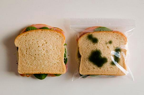 Plastico para sanduíche anti roubo