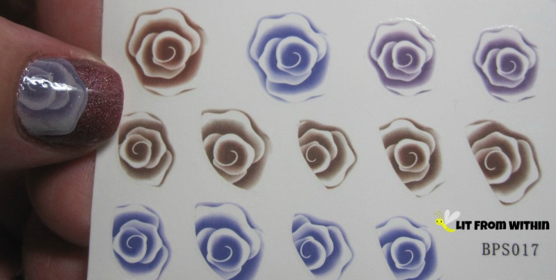 plummy tea rose decals