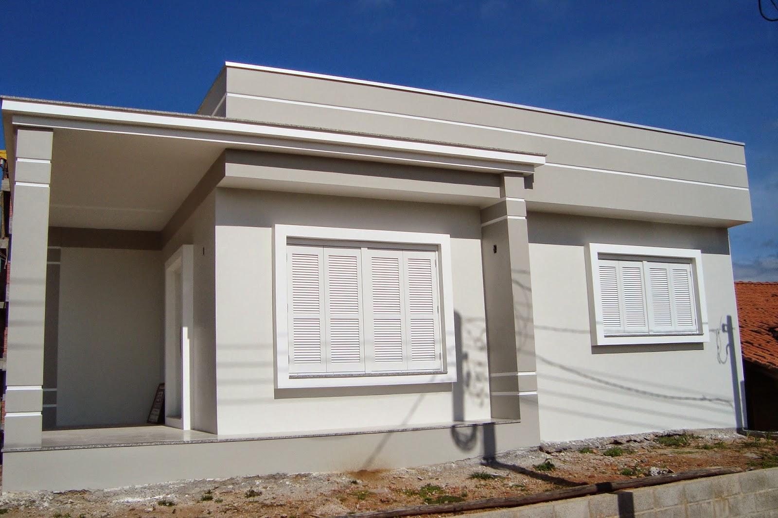 Casas pintadas com cores modernas por fora fachadas de for Casas modernas pintadas