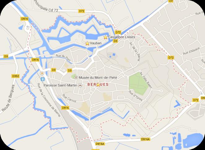 https://www.google.de/maps/place/Bergues,+Frankreich/@50.9694039,2.4265849,15z/data=!4m2!3m1!1s0x47dcf2bbfa009a75:0x25efbed4fcf9d7af?hl=de