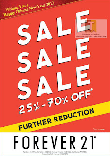 Forever 21 Further Reduction Sale 2013