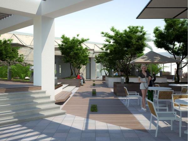 Khu cafe dự án Hpc landmark 105