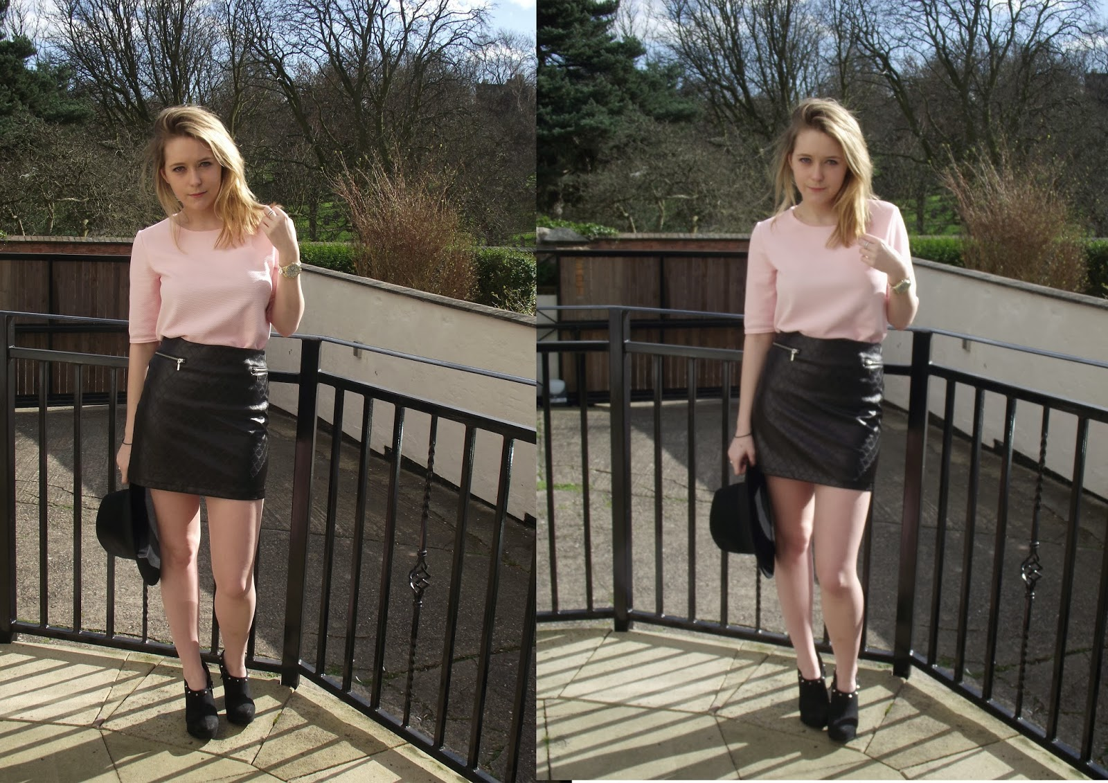 Lrsmth-Fashion Pastel Pink and Leather feat New Look, Bershka & Primark