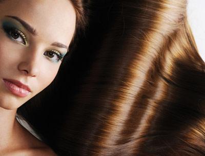 cabello suave y brillante