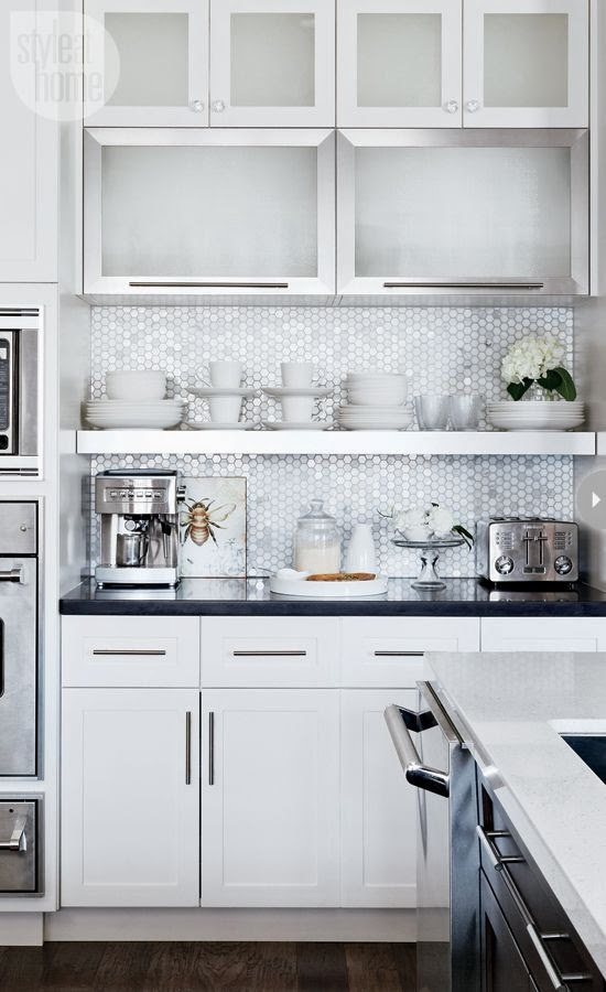 Cool chic style attitude: design trends: subway   hexagon marble tile