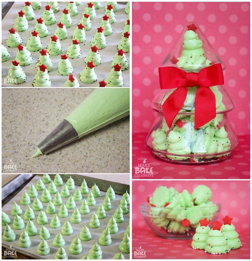 diy christmas tree meringues - Christmas Tree Meringues