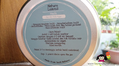 review masker alami nature leaves
