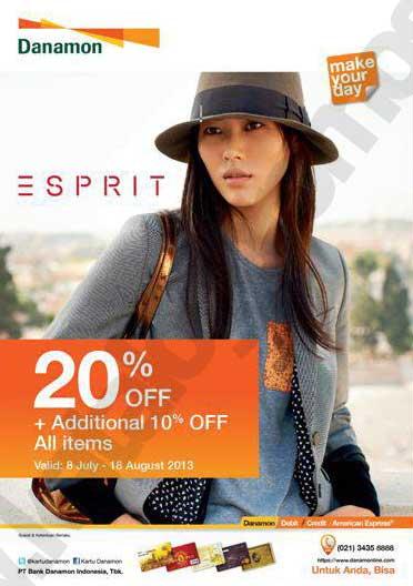 Promo kartu kredit Danamon Diskon 20 % + 10 % di ESPRIT