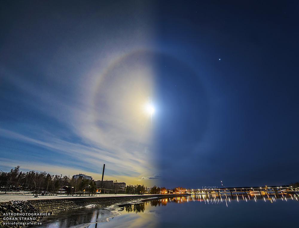 Quầng Mặt Trời và quầng Mặt Trăng. Tác giả : Göran Strand.