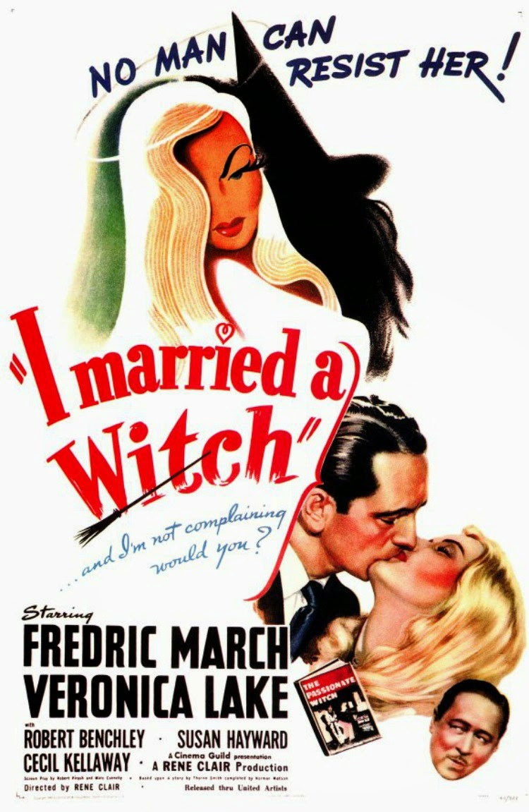 A Vintage Nerd, Classic Film Blog, Old Hollywood Blog, Classic Witch Movies, Vintage Blog, I Married A Witch