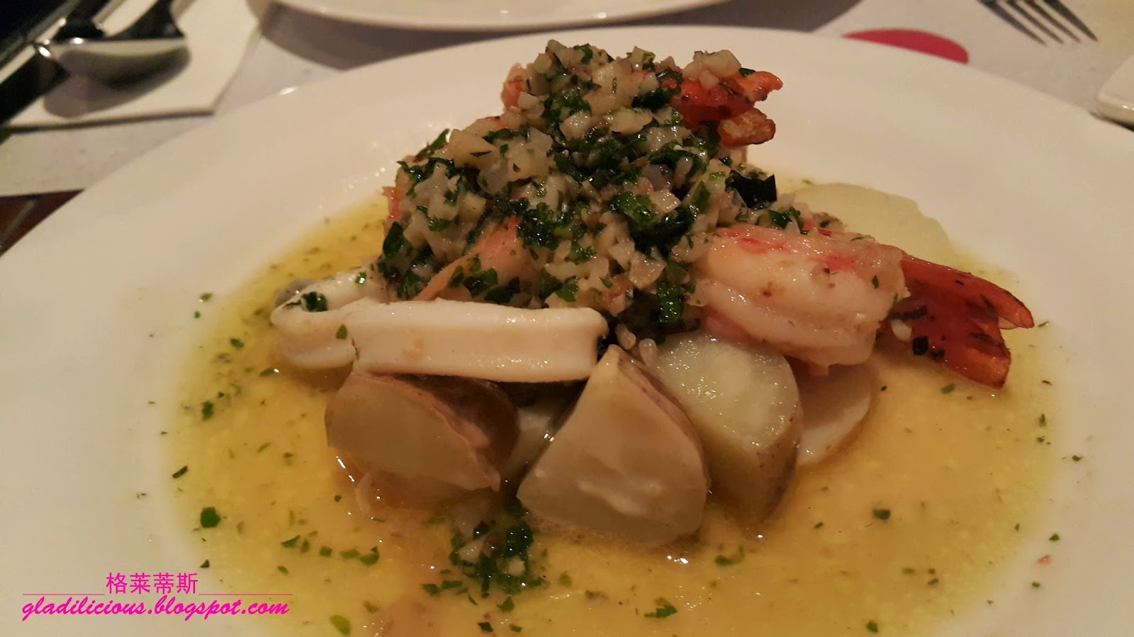 Calamari With Warm Potato-Basil Salad Recipe — Dishmaps