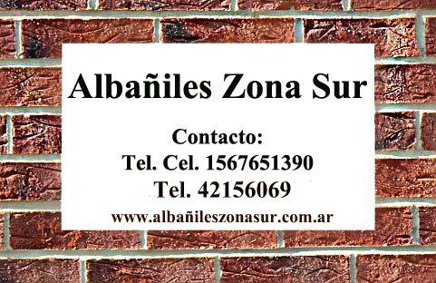 Albañiles Zona Sur, Albañiles Berazategui Quilmes Lanus Lomas Avellaneda Turdera Temperley.
