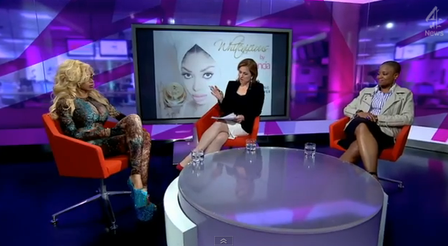 "Really Dencia? ""White Means Pure""...  Dencia Tries To Defends Whitenicious On Channel 4 News"