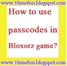 passcodes for bloxors