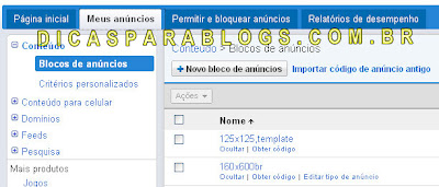 pagina do google adsense