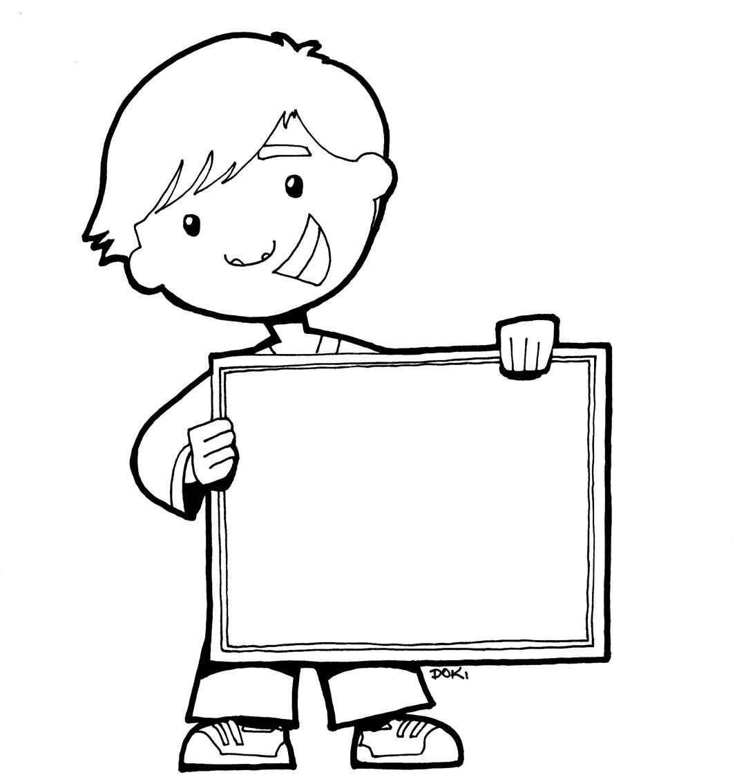 blog cantinho de ideias plaquinhas para colorir e ilustrar atividades