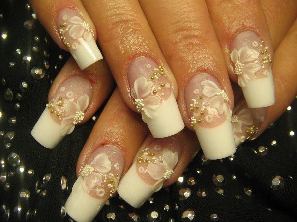 ACRYLIC NAILS: Bridal and Wedding Nail Art
