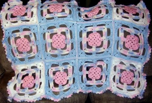 Patriotic Princess Granny Square Afghan - Free Pattern
