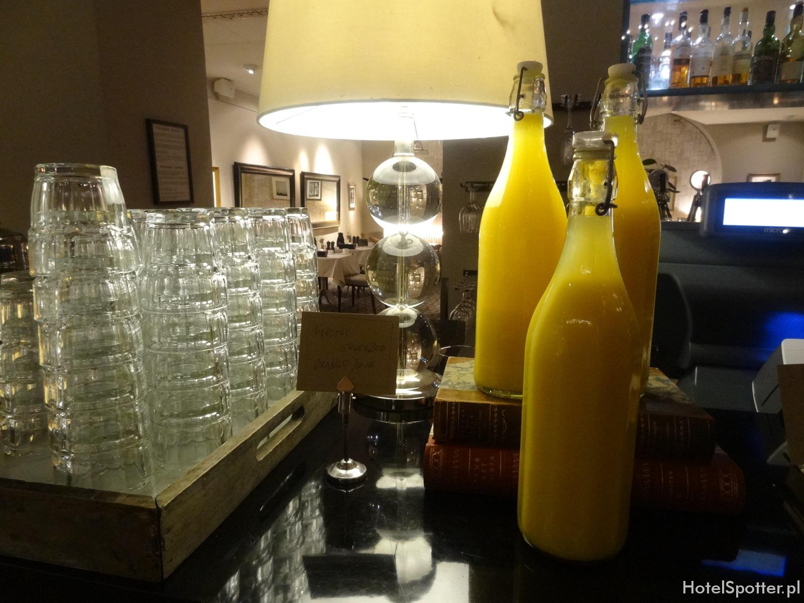 Radisson Blu Strand Hotel, Stockholm - swieze wyciskane soki