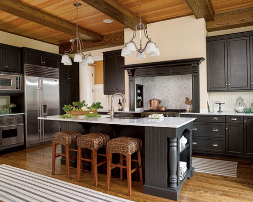 Latest kitchen cabinet designs an interior design - Black kitchen cabinets ideas ...