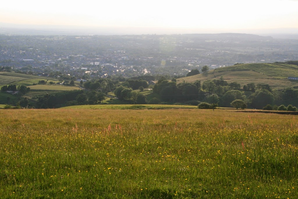 Cheshire plain from Teggs Nose Country Park