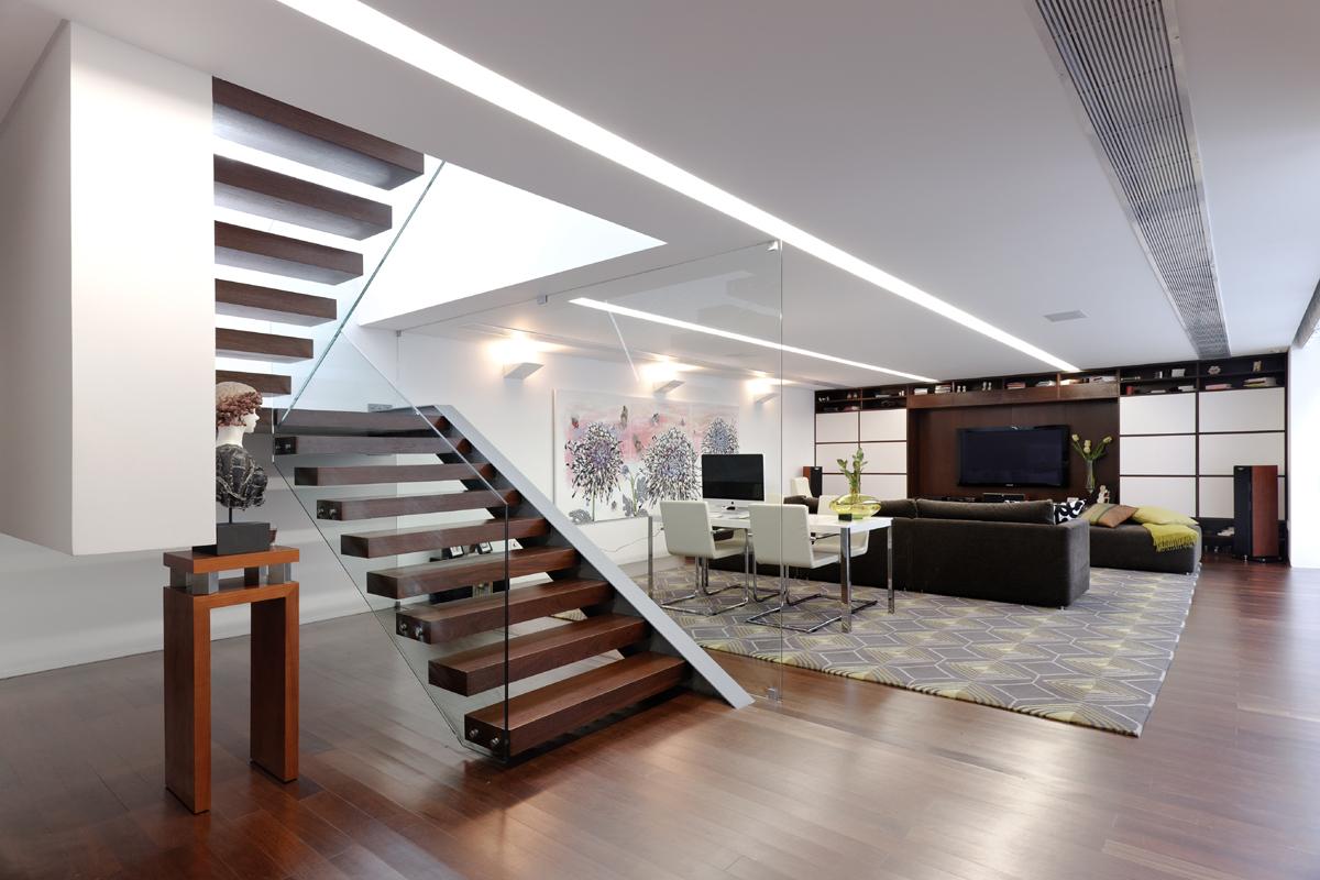 Andrea hebard interior design blog stair railings for Glass interior design