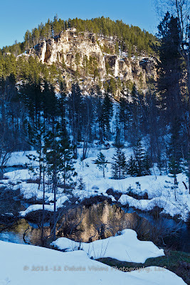 Spearfish Canyon Snow Reflections Black Hills Photography by Dakota Visions Photography LLC