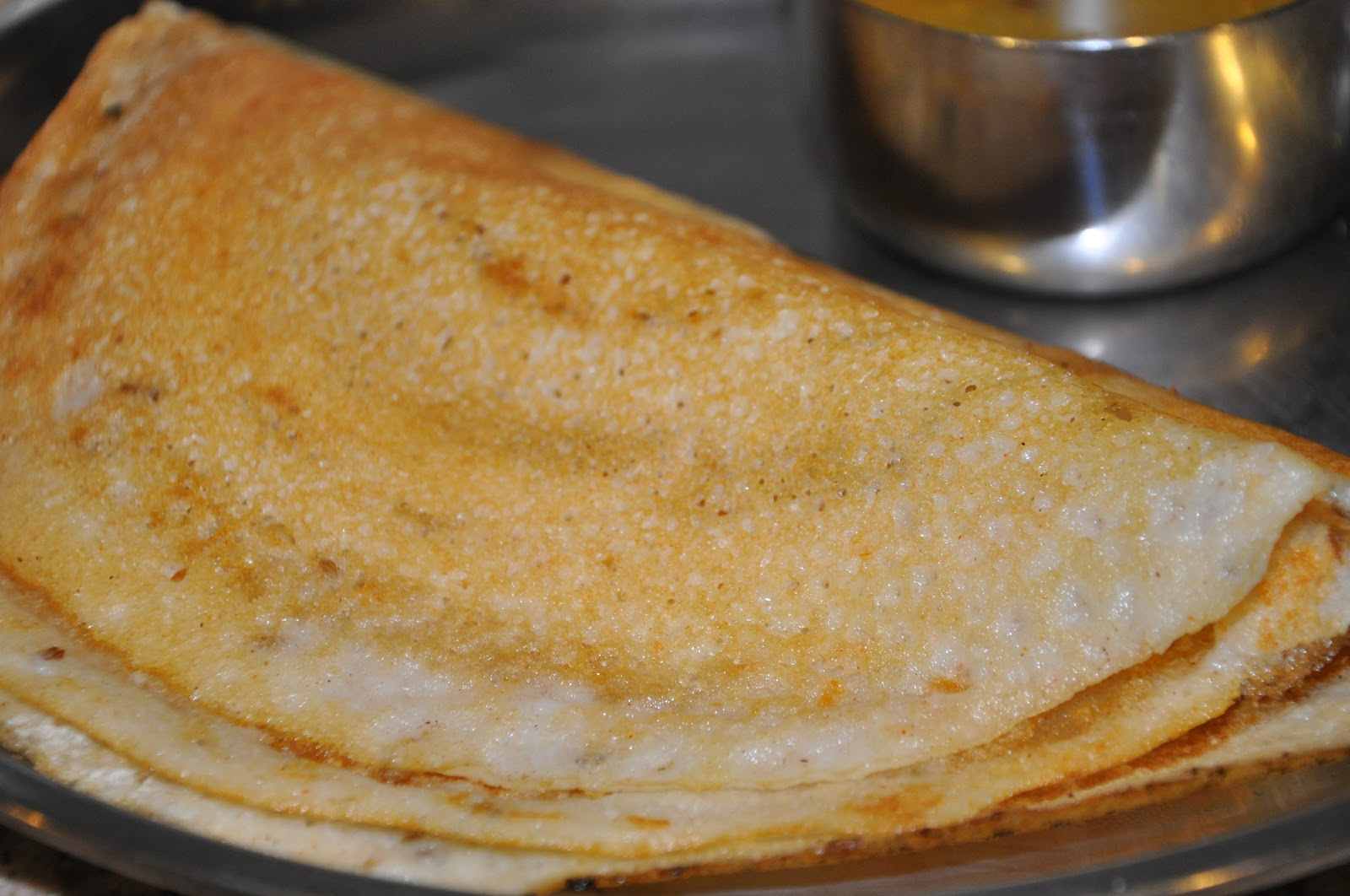 ... State in Western India: Plain Dosa (Rice and Lentils Savory Crepes