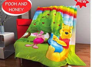 Selimut Kintakun Flannel Pooh and Honey