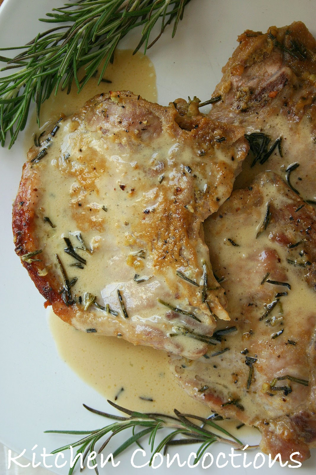 ... : Website Wednesday: Honey, Mustard and Rosemary Baked Pork Chops
